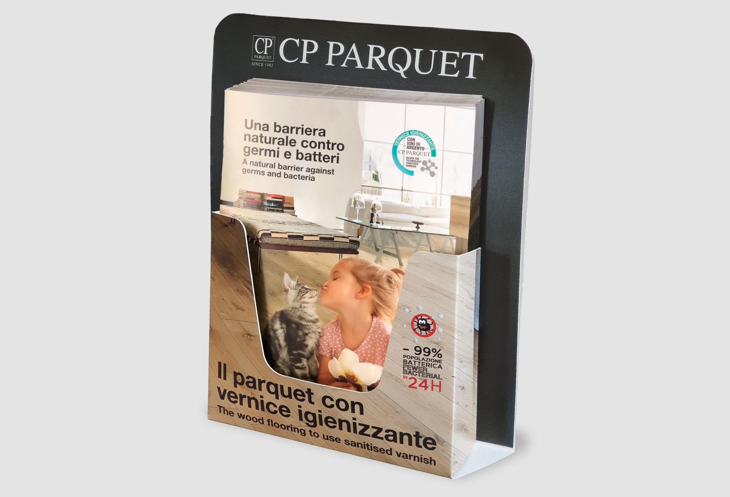 Display da tavolo + Booklet Vernice igienizzante