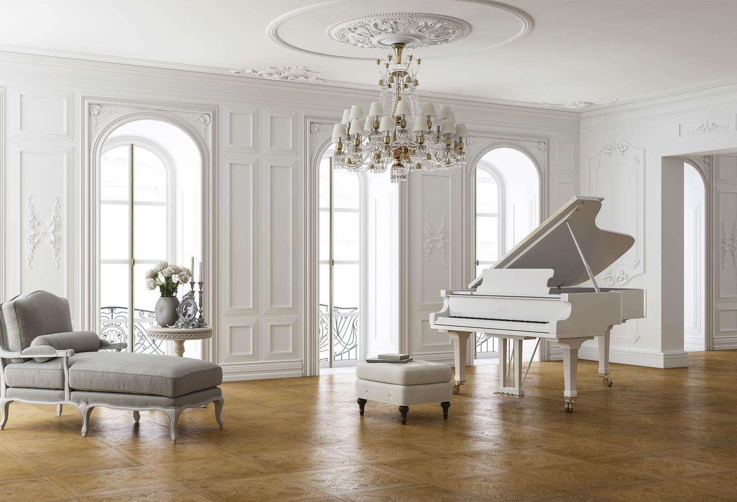 Quadrotte rovere natur spazzolato oliato noce mansiona bisellato - Versailles