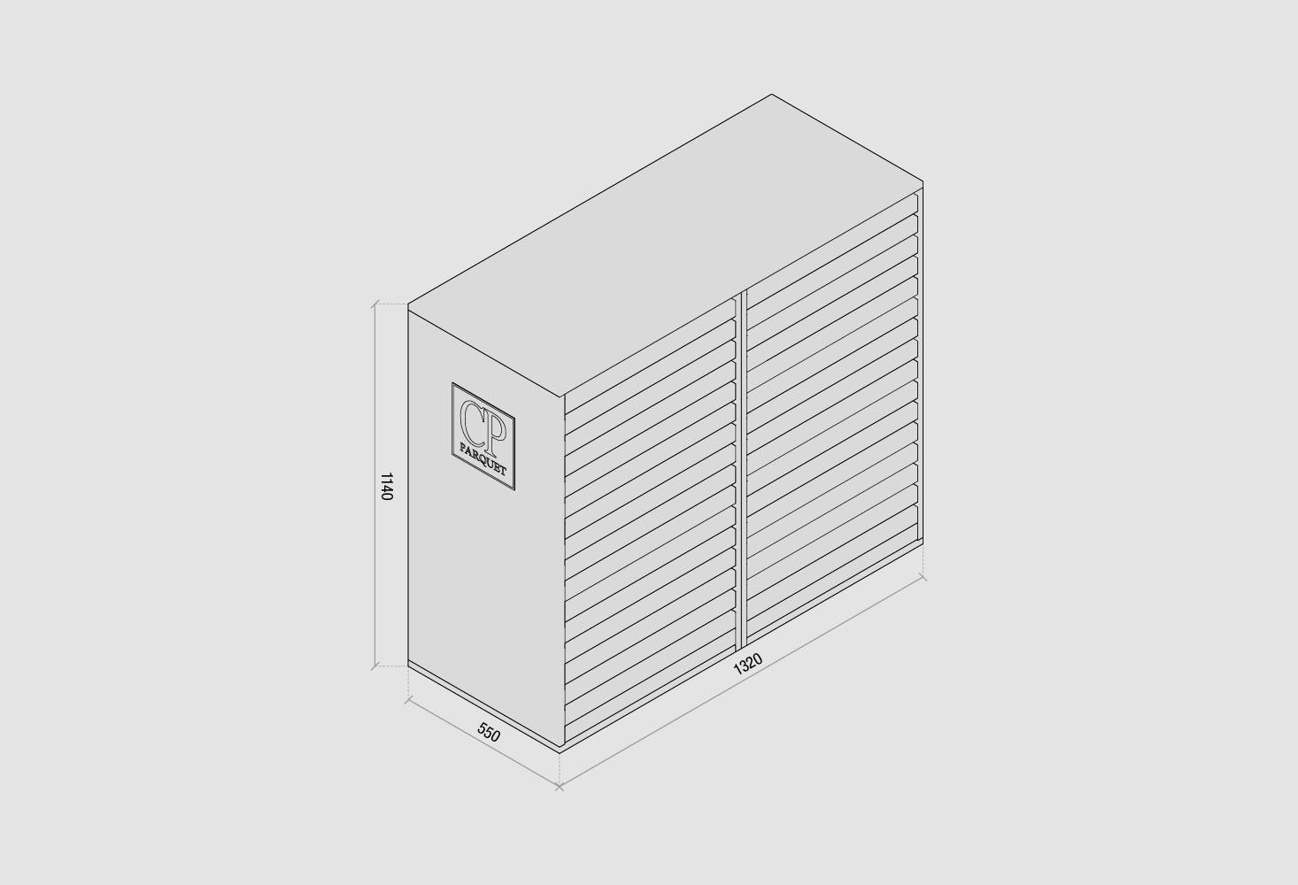 Espositore cassettiera - disegno