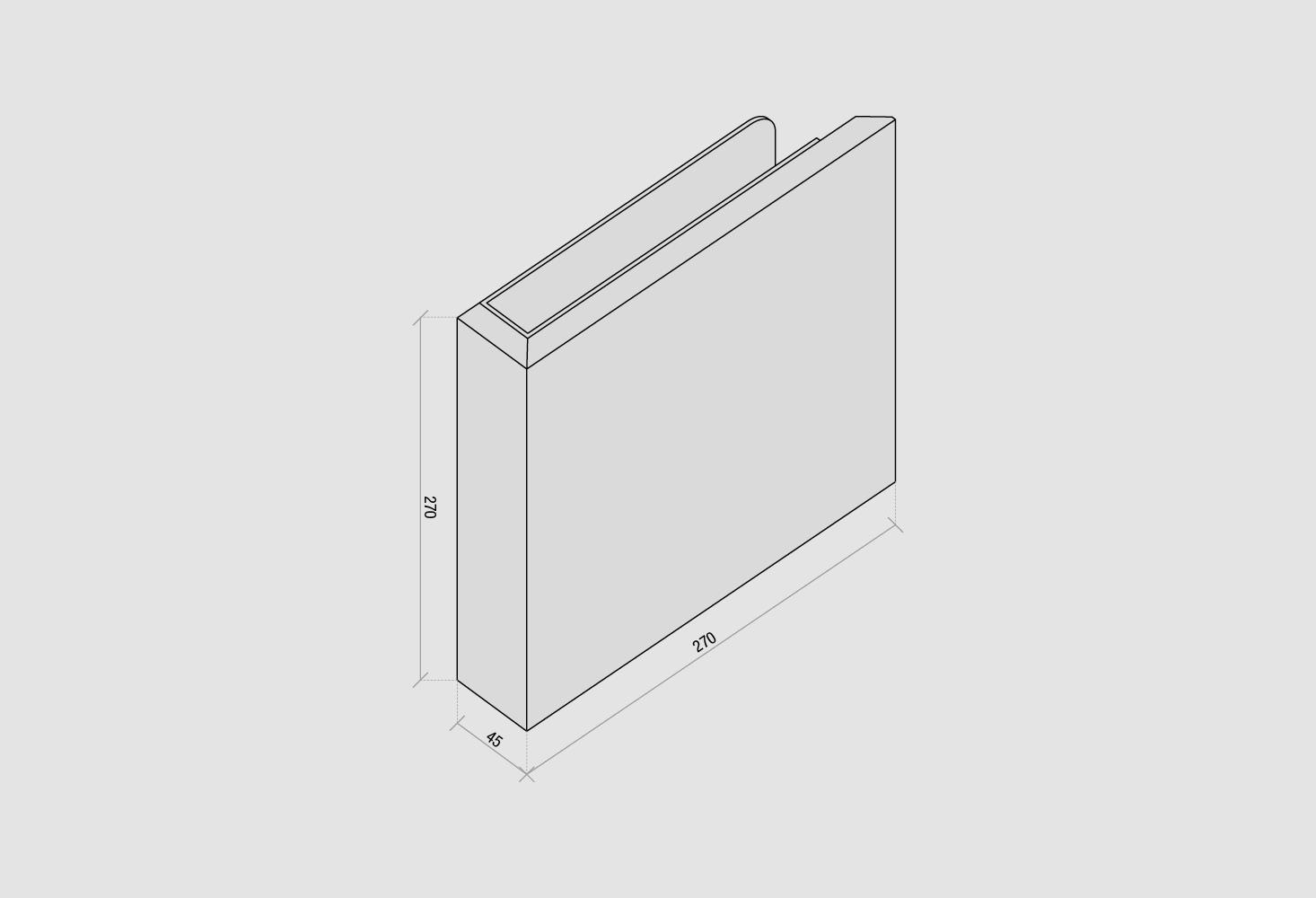 Staffa a parete — disegno
