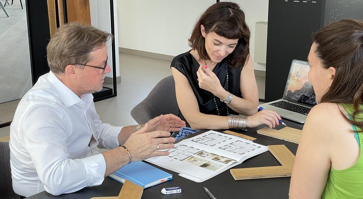 Gianni Miatello, Direttore Commerciale CP Parquet e Carla Palù, Titolare di CÙDesigne protagonista del progetto